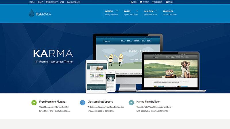 Karma | 中文版,汉化版响应式多用途 WordPress主题